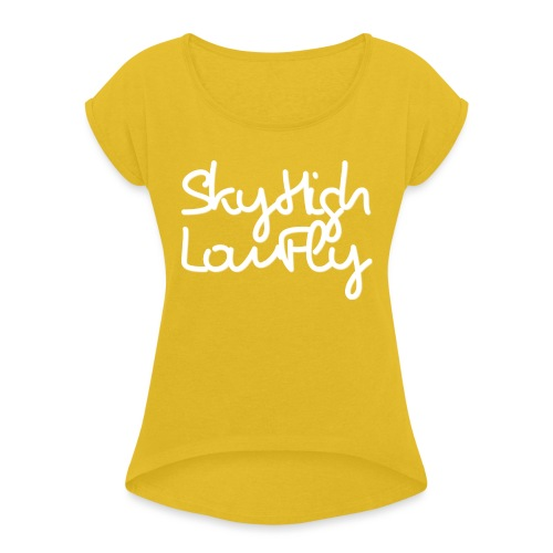 SkyHighLowFly - Men's Sweater - White - Women's T-Shirt with rolled up sleeves