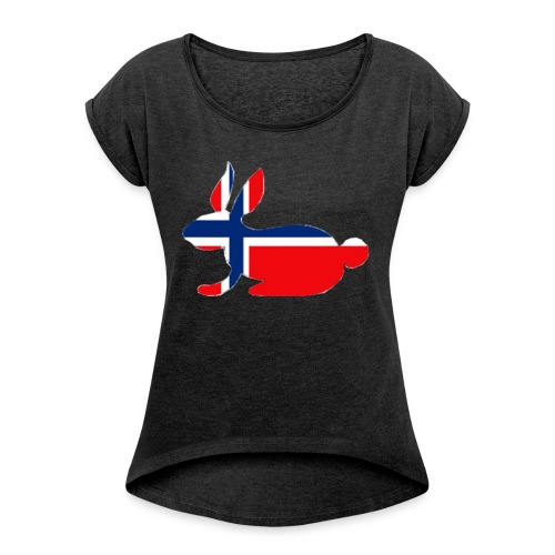 norwegian bunny - Women's T-Shirt with rolled up sleeves