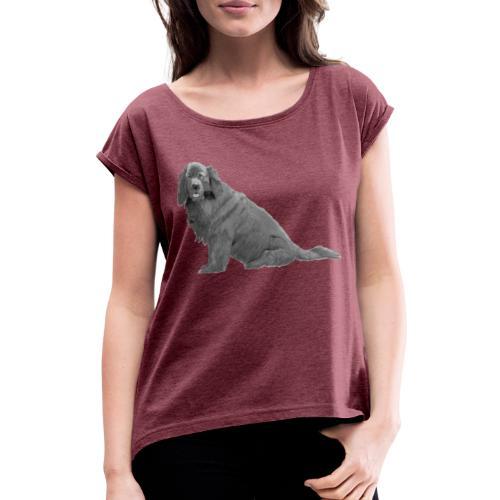 newfoundland - Dame T-shirt med rulleærmer
