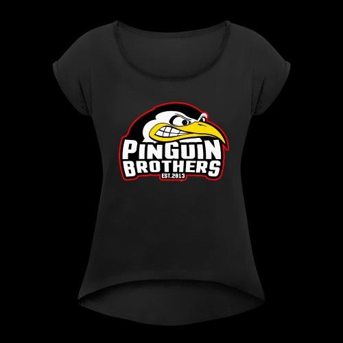 Pinguin bracia Clan - Koszulka damska z lekko podwiniętymi rękawami
