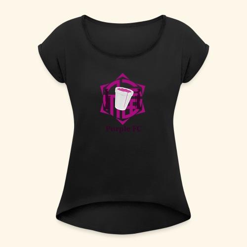 PURPLE FC - Camiseta con manga enrollada mujer