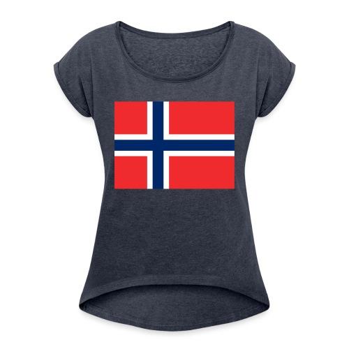 DixieMertch - T-skjorte med rulleermer for kvinner