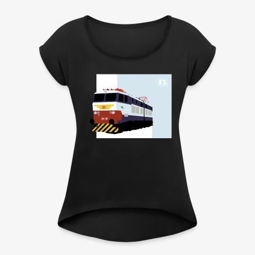FS E 656 Caimano - Maglietta da donna con risvolti