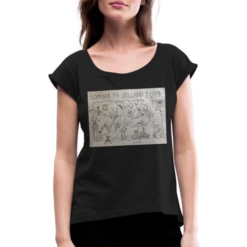 sommar på jylland 2019 - T-shirt med upprullade ärmar dam