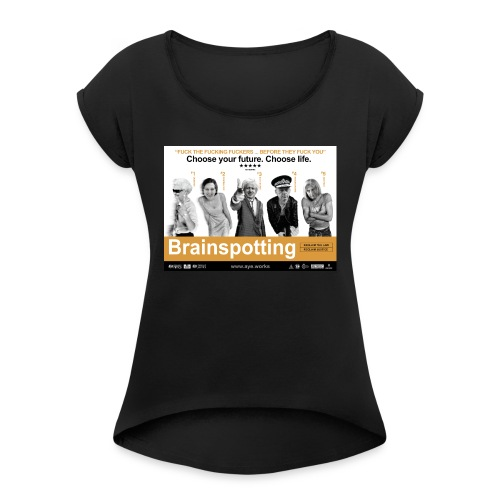 Brainspotting - Women's T-Shirt with rolled up sleeves