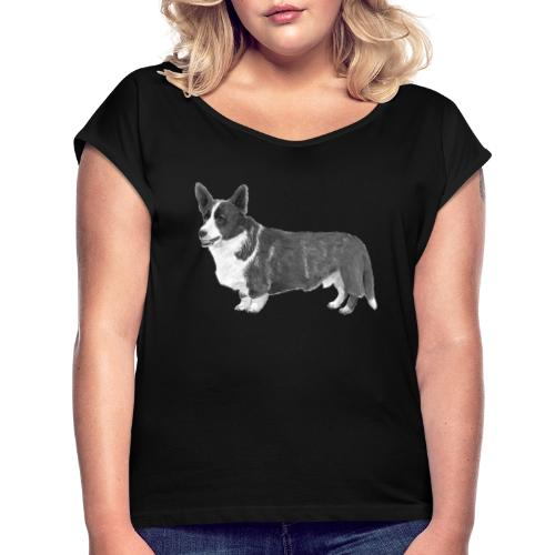 welsh Corgi Cardigan - Dame T-shirt med rulleærmer