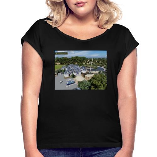 Żółwiarium - Koszulka damska z lekko podwiniętymi rękawami