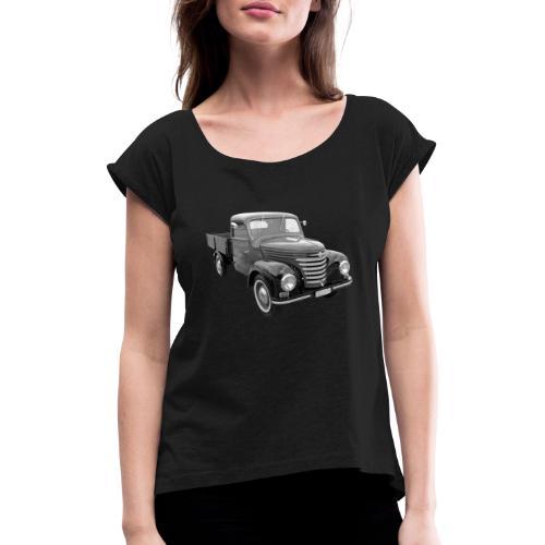 Framo Barkas Transporter Lkw DDR IFA Oldtimer - Frauen T-Shirt mit gerollten Ärmeln