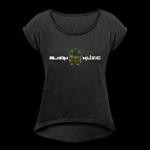 Totemic Unit design Front and Back - Women's T-Shirt with rolled up sleeves