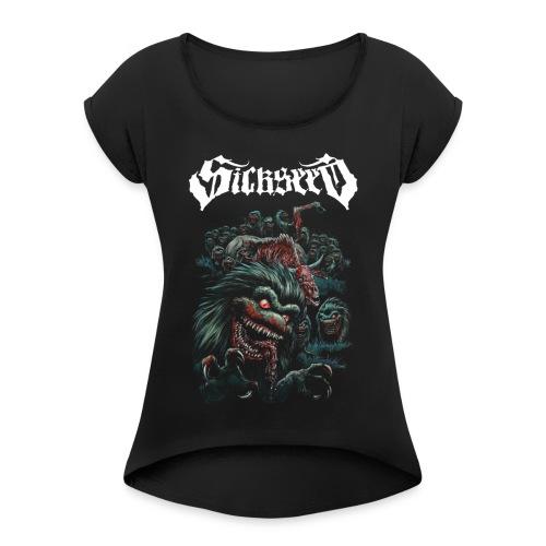 CRITTERS - Dame T-shirt med rulleærmer