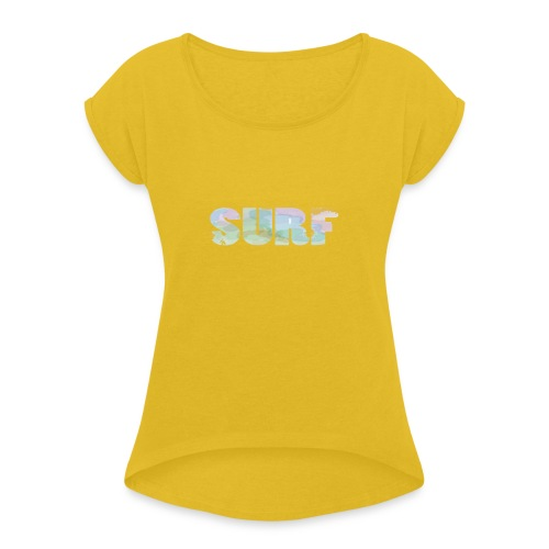 Surf summer beach T-shirt - Women's T-Shirt with rolled up sleeves