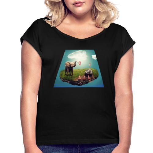 pequeño mundo - Camiseta con manga enrollada mujer