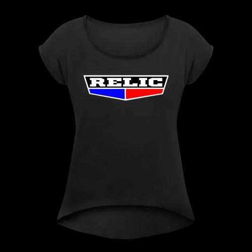 relicbase - T-shirt à manches retroussées Femme