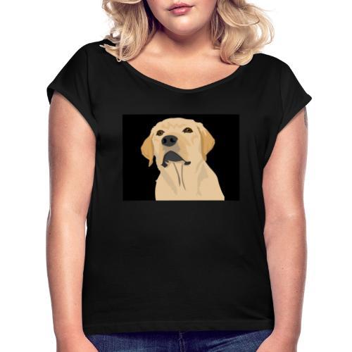 hund labrador tier liebe dog - Frauen T-Shirt mit gerollten Ärmeln