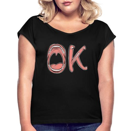 OK - T-shirt à manches retroussées Femme