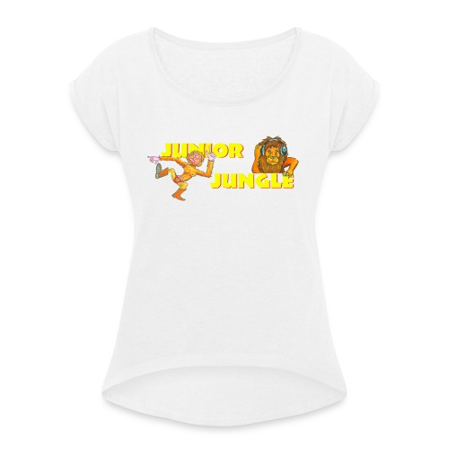 T-charax-logo - Women's T-Shirt with rolled up sleeves