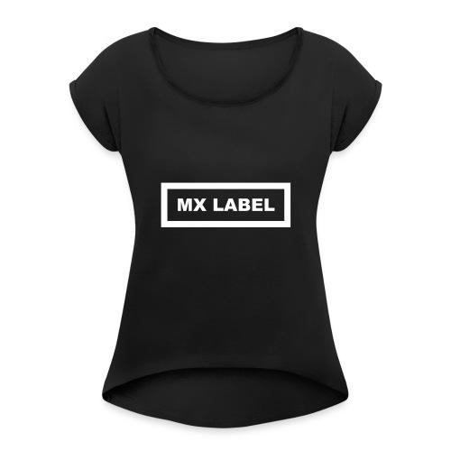 MX Label (White) - Maglietta da donna con risvolti