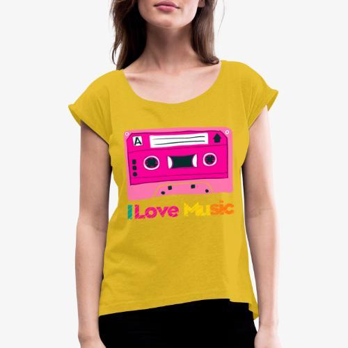 Cinta 3 - Camiseta con manga enrollada mujer