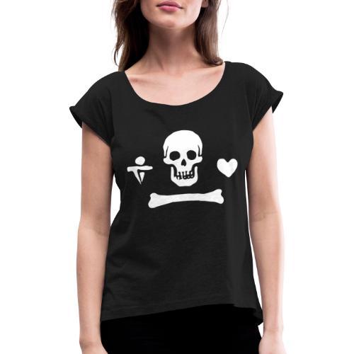 Stede Bonnet Flag - T-shirt à manches retroussées Femme