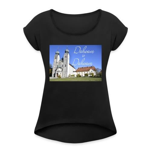 Baumburg T Shirts - Frauen T-Shirt mit gerollten Ärmeln