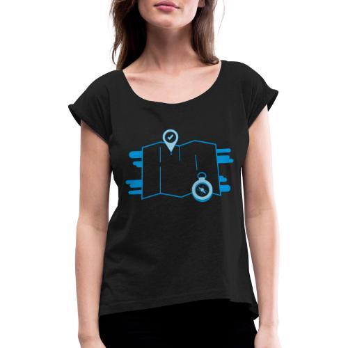 destination - T-shirt à manches retroussées Femme