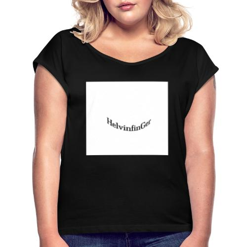 HilvinfinGer - Camiseta con manga enrollada mujer