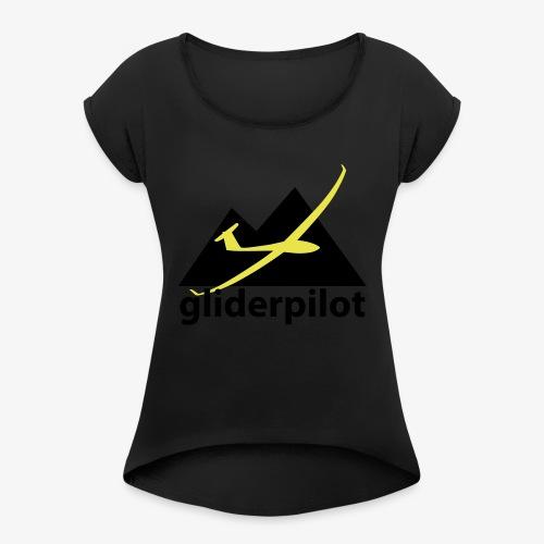 soaring-tv: gliderpilot - Frauen T-Shirt mit gerollten Ärmeln