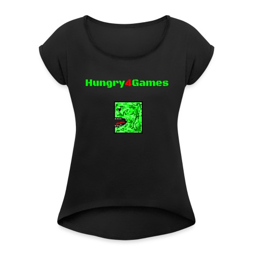 A mosquito hungry4games - Women's T-Shirt with rolled up sleeves