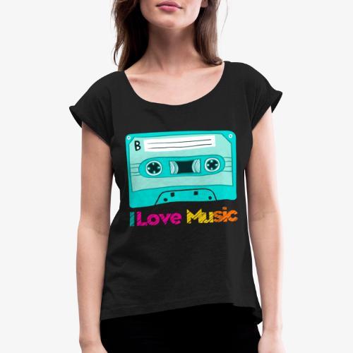Cinta 2 - Camiseta con manga enrollada mujer