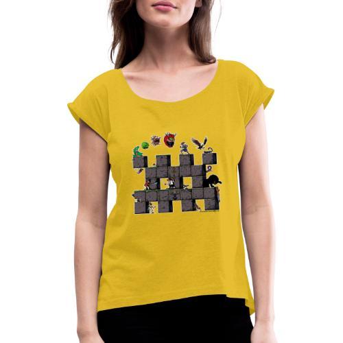 L'histoire du jeu vidéo #AbandonwareFrance - T-shirt à manches retroussées Femme