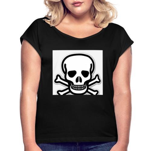 6EB5A343 BDAF 405B AF03 E7E53BF3BE03 - T-shirt med upprullade ärmar dam