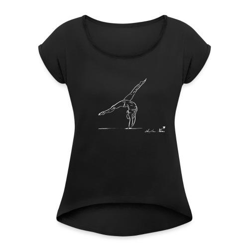 GINNASTA BIANCA - Maglietta da donna con risvolti
