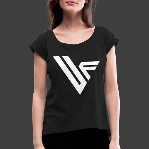 United Front Alternative Logo collection - Naisten T-paita, jossa rullatut hihat