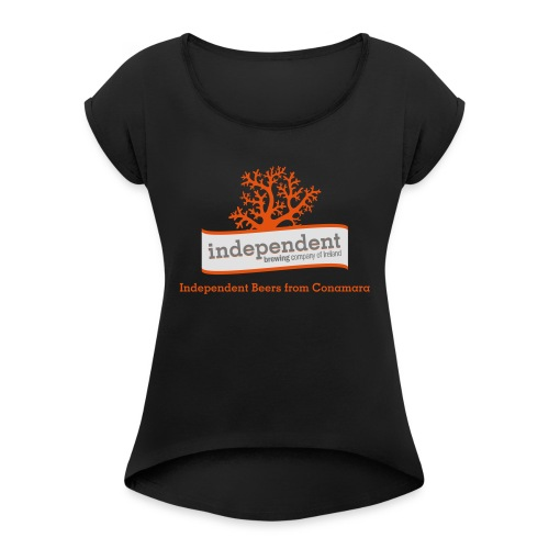 Independent Beers from Conamara - Women's T-Shirt with rolled up sleeves