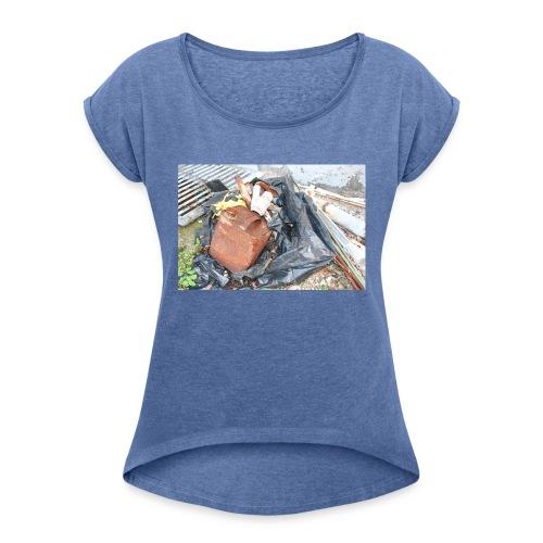 Trash 1 - Dame T-shirt med rulleærmer