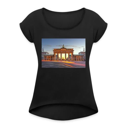 Berlin cup - T-skjorte med rulleermer for kvinner