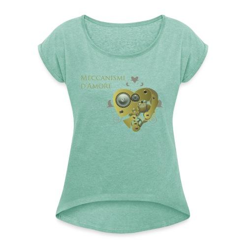 meccanismi_damore - Maglietta da donna con risvolti