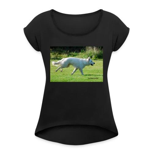 615966_10151122370701589_1082503723_o - T-shirt med upprullade ärmar dam