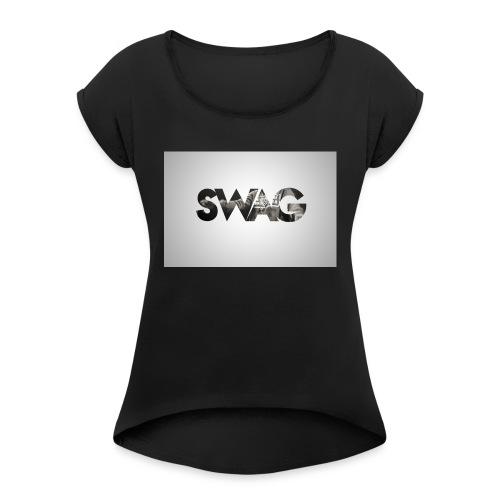 _SWAG CAMS - T-shirt à manches retroussées Femme