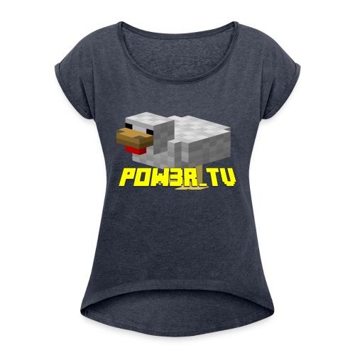 POW3R-IMMAGINE - Maglietta da donna con risvolti