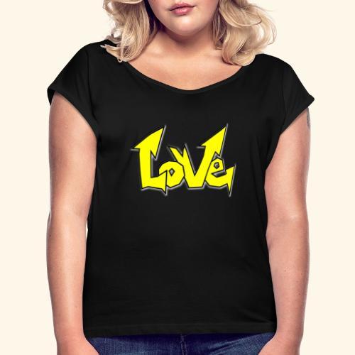 Vecteur d'amour - T-shirt à manches retroussées Femme