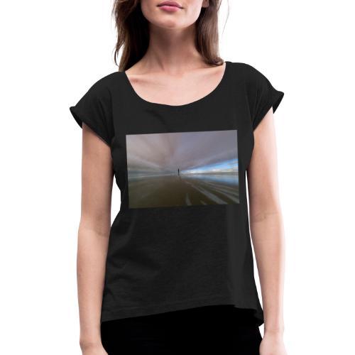 Nordsee - Frauen T-Shirt mit gerollten Ärmeln