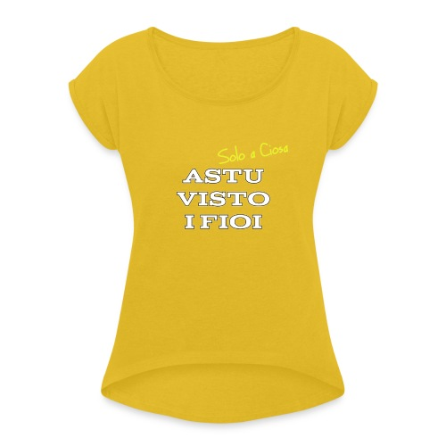 ASTU VISTO I FIOI - Maglietta da donna con risvolti