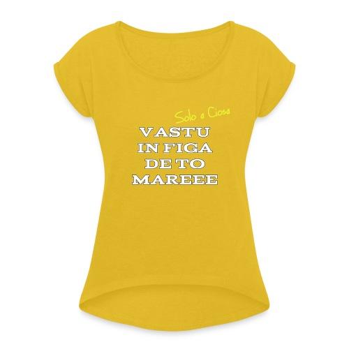 VASTU IN FIGA DE TO MARE - Maglietta da donna con risvolti