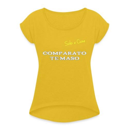 COMPATATO TE MASO - Maglietta da donna con risvolti