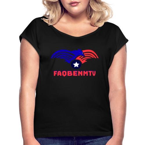 Design motivant - T-shirt à manches retroussées Femme