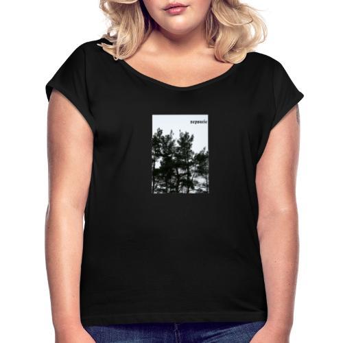 zepsucie - Koszulka damska z lekko podwiniętymi rękawami