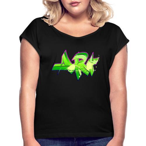 old school hip hop breakdance 17 - T-shirt med upprullade ärmar dam