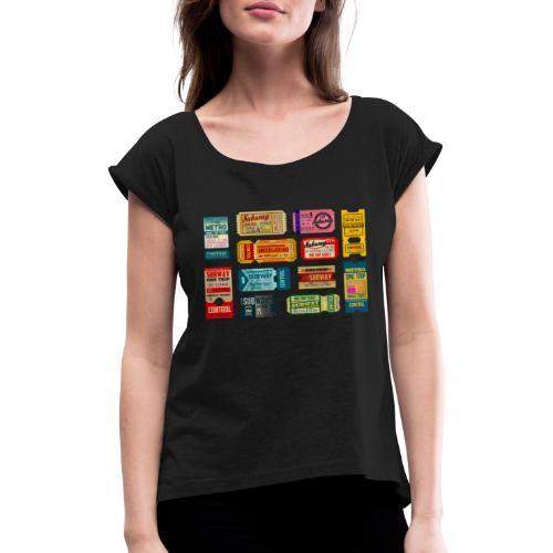 SUBWAY BROADWAY - Camiseta con manga enrollada mujer