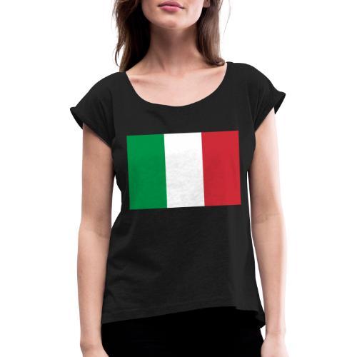 2000px Flag of Italy svg - Maglietta da donna con risvolti